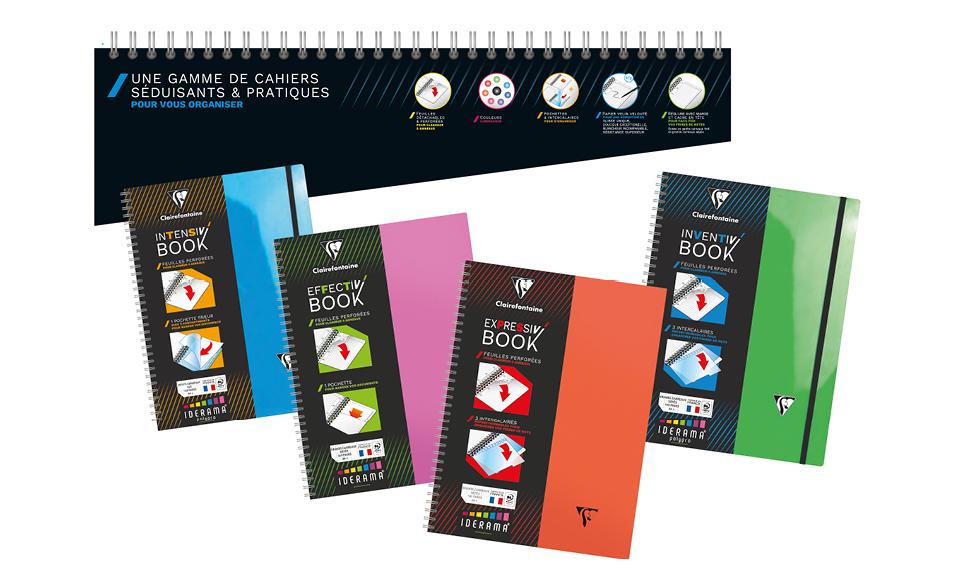 Lancement d'une gamme de cahiers pour étudiants ou comment créer une identité de gamme compatible avec la cible.